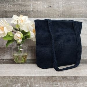 Classic navy blue woven Sak purse